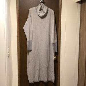 Ellen Tracy cowl neck long sleeve dress